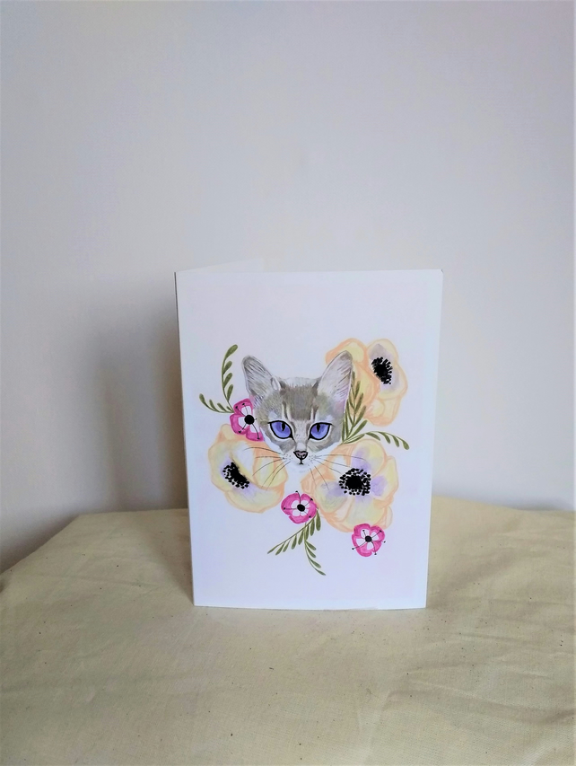 Lilac Eyes Greetings Card
