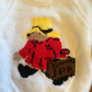 Paddington Bear Knitted White Jumper - Chest Size 22 inches