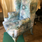 Georgian style wing back chair