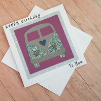 VW Campervan Birthday card