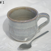 Stoneware cup light blue