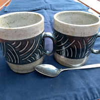 Stoneware tea or coffee mug
