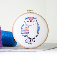 Owl Contemporary Embroidery Kit