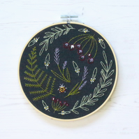 Limited Edition Black Wildwood Embroidery Kit