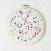 Folk Blossom Embroidery Kit