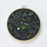 Limited Edition Black Seedhead Spray Embroidery Kit