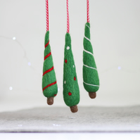 Christmas Trees Needle Felting Kit