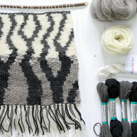 Complete Weaving Kit Loom and Monochrome Supply Pack