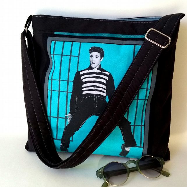 Elvis crossbody bag with image from Jailhouse Rock