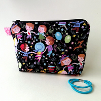 Ring-a-ring o'roses zipped pouch, make-up bag, small and colourful