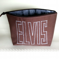 Wide zipped pouch for 50's music lover