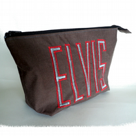 'Elvis' wide zipped pouch