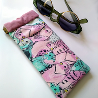 Budgies glasses case, flex frame, pinch purse