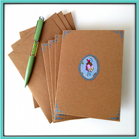 Elegant bird notelets – pack of 4 blank cards