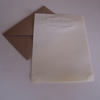 "Embossed ""HELLO"" Letter Writing Set  - Writing Paper - Envelopes - Stationery"