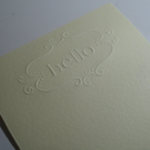 "Embossed ""HELLO"" Writing Paper - Cream - Kraft Envelopes - Letter Writing Set"