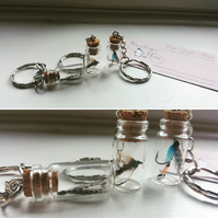 Trout fishing fly keyring