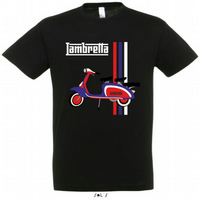 1960's Lambretta Mod Iconic Scooter Designed Printed T Shirt