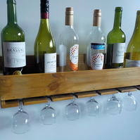 Large Wine and glass Rack Handmade in Horndean We can personalize