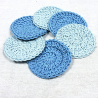 Pack of 4 100% cotton scrubbies or cotton rounds