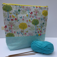 Knitting bag, project bag, crochet bag