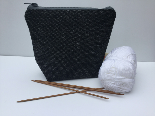 Knitting bag, project bag, crochet bag, make up bag