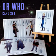 Collection set of 13 Dr Who greeting cards