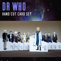 Collection set of 13 Dr Who hand cut greeting cards