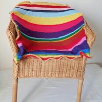 Colourful Striped Pet Blanket