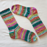 Candy Crush Colourful Hand Knitted Socks
