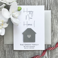 Welcome to your New Home Personalised House Warming Card Gift