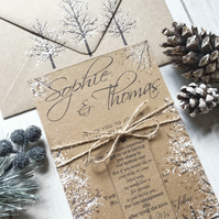 SAMPLE - Rustic Winter Wedding Invitation