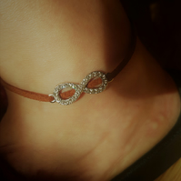 SPARKLY INFINITY  BRACELET or ANKLET & Wrapped as a Gift!