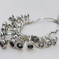 Unusual & quirky silver Chest Bracelet
