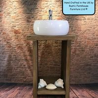 The Kimmeridge Wash Stand, Rustic farmhouse Furniture, Basin Vanity Unit Wash