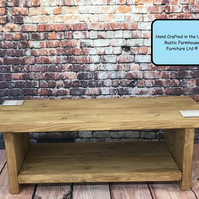 The Tyneham Rustic Coffee Table, Rustic Farmhouse Furniture,