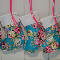 Floral Mini Christmas Stockings