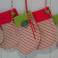 Striped Mini Christmas Stockings