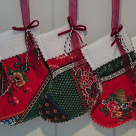 A Multi Patterned Mini Christmas Stockings