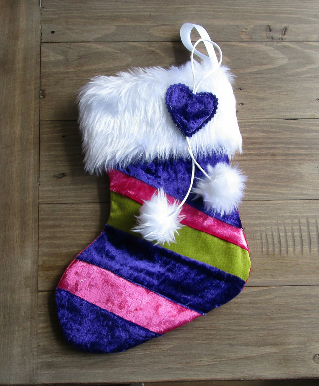 A Striped Christmas Stocking