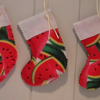 Mini Water Melon Xmas Stocking