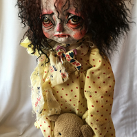Dilly- OOAK Art Doll- Victorian Vampire kid