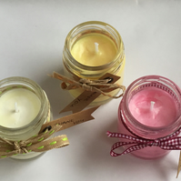 3 x scented mini jar candles