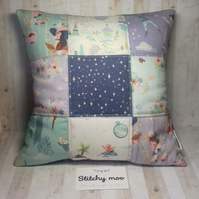 Peter Pan quilted cushion cover