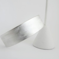 Satin Finish Cuff Bracelet - Sterling silver - Solid Silver