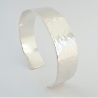 Hammered Silver Cuff - Silver Bracelet - Solid Sterling Silver