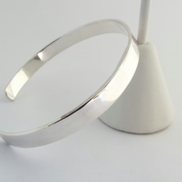 Silver Cuff Bracelet - Polished finish - Silver cuff - Handmade in Scotland