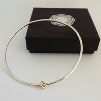 Musical Bangle - Sterling Silver and 9ct Yellow Gold
