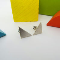 Triangle Silver Earring - Stud earrings - Sterling Silver