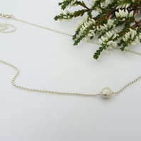 Molten Droplet Silver Necklace - Handmade from Sterling Silver